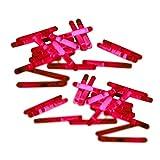 20 Mini-Knicklichter, Bissanzeiger, Angel-Knicklichter in rot inkl. Verbinder | verpackt zu je 2 Stück pro Tüte und ein Verbinder, insgesamt 10 Tüten