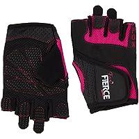Guanti da donna per sollevamento pesi neri o rosa più *GRATIS* cinghie imbottite per sollevamento a forma di 8 per powerlifting e peso superiore