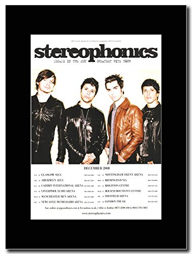 Stereophonics - Decade of the sun UK Tour 2008. Magazine promo su una montatura nero