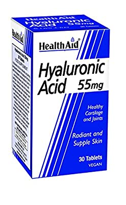 HealthAid Hyaluronic Acid 55mg - 30 Vegan Tablets by HealthAid