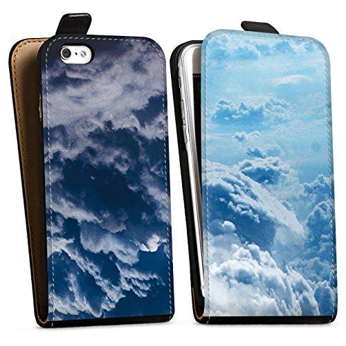Apple iPhone X Silikon Hülle Case Schutzhülle Wolken Himmel Landschaft Downflip Tasche schwarz