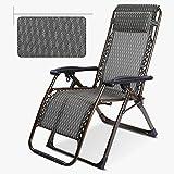 Deckchairs Duo Zero Gravity Chair Recliners Klappstuhl Mittagspause Falten Liegen Siesta Lounge Chair Rückenlehne Stuhl (Farbe : A)