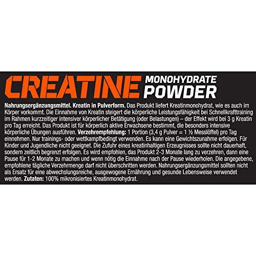Olimp Creatine Monohydrate Powder Creapure | Kreatin-Pulver | 147 Portionen | 500 g
