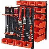 Tactix pared de herramientas,/de almacenamiento estante de pared, sistema organizador para taller, presupuesto, 43piezas, 28cajas en 3tamaños, 320600