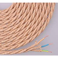 EDM Cable de Cuerda de Yute Tejido y Trenzado 3x0.75