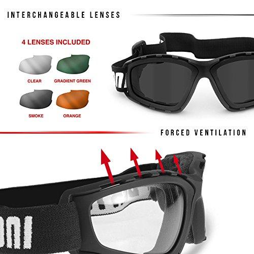 Masque moto Bertoni AF120b Noir 3