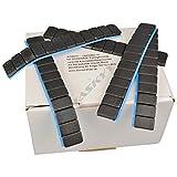 25 SCHWARZE Auswuchtgewichte 12x5g Klebegewichte Stahlgewichte Kleberiegel