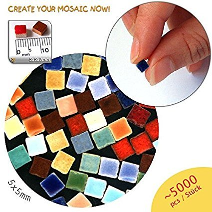 Mosaic-Minis (5x5x3mm), 5.000 pieces, Multicolor, MXAL , Not sorted