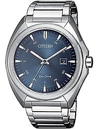 Reloj Citizen. Caballero. Eco-Drive. Acero. Esfera gris