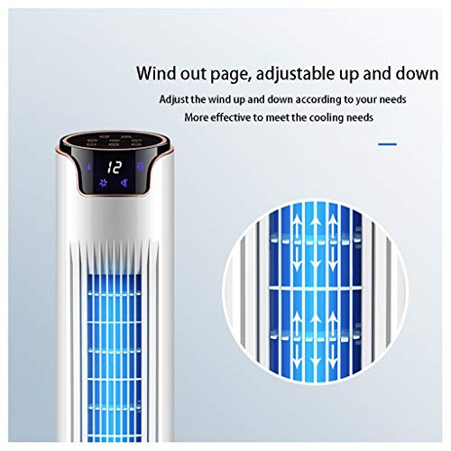 51jYghgVctL. SS500  - FHDF Electric Fan Tower Cooling Air Conditioning Refrigeration Home Remote Control Humidification Cooler Vertical Mute Floor Timing Leafless With Ice Crystal Water White Touch
