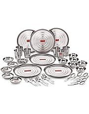 Hazel Stainless Steel Dinner Set 36 Pcs Designer Gift Set
