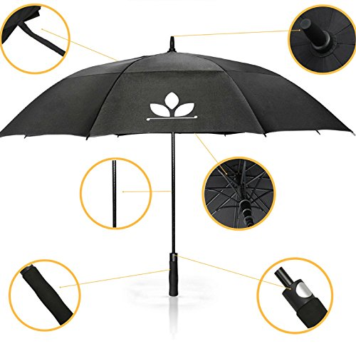 GolfUp Fiberglas Regenschirm - 130 cm groß XXL - ...