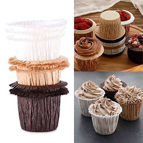 Mflbefulmel 30 Stück Hochtemperaturbeständiges Papier Cupcake Liner Wrappers Antihaft Muffin Formen Backen Cup Holder Kuchen Papier Cup Muffin Backförmchen Wrap Liner für Urlaub #Golden