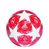 adidas Herren Finale18 Madrid Capitano Fußball, White/Silver Metallic/Real Coral/Vivid Red, 5