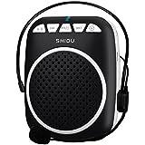 Zoweetek® Amplificateur voix portable Haut Parleur avec Micro Casque et Batteries Rechargeables pour les guides, les enseignants, conférenciers, animateurs - Noir