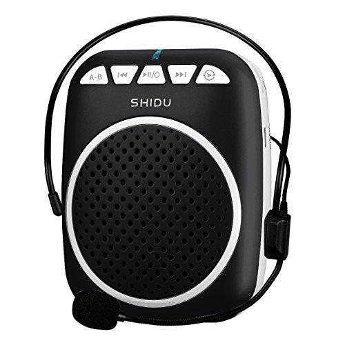 Zoweetek Amplificador de Voz portátil Ultraligero con Clip de cinturón, Formato MP3 Audio para guías, Profesores, Entrenadores, presentaciones, Etc.