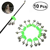 #4: Vosarea Fishing Rod Alarm Clip Dual Alert Bells Rod Clamp Tip Clip Twin Bells 10pcs