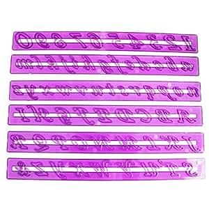 Nombre Lettre de gâteau de Fondant de décoration de gâteau Moule à pâtisserie Message Par Kurtzy TM