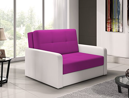 mb-moebel Kleines Sofa mit Schlaffunktion und Bettkasten Schlafsessel Gästebett Jugendsessel Couch...