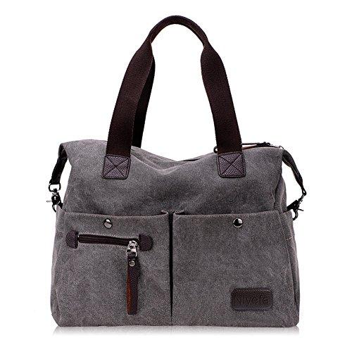 Nlyefa Handtasche Damen Canvas umhängetasche taschen (Große Handtasche)