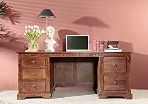 kolonial schreibtisch akazie massiv holz oxford 529. Black Bedroom Furniture Sets. Home Design Ideas