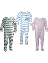 Teddy's Choice 100% Cotton Multi color 3 Combo Kid's Romper for 6-9 Months :Modle-011