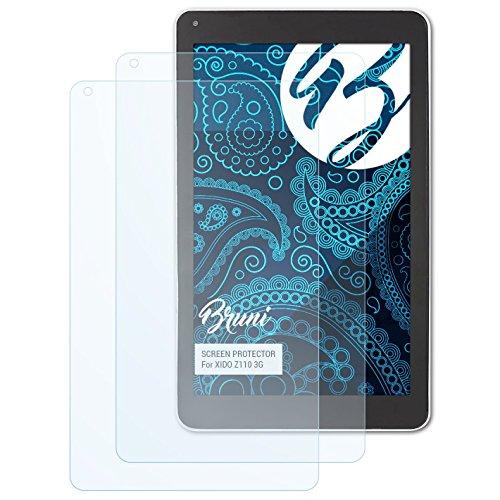 Bruni Schutzfolie für XIDO Z110 3G Folie, glasklare Bildschirmschutzfolie (2X)