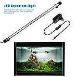 FTALGS LED Aquarium-Licht Unterwasser BeleuchtungAufsatzleuchte Abdeckung Wasserdicht Lampe Stecker EU für Fisch Tank mit (1.8x58cm, Blue)