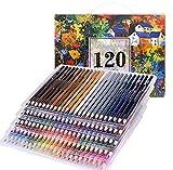 120 Crayons de couleur (aucune en double) – 120 couleurs uniques Pré-affûtée Professionnel de Haute Qualité Art Dessin crayon pour enfants, adultes et artistes croquis, peinture