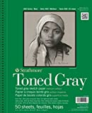Strathmore Toned Gray - Sketch Book 9'X 12' Grigio - 50 Fogli