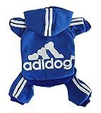 Scheppend Herbst und Winter mit vier Beinen Hund Sweatshirts mit Kapuze,Blau M