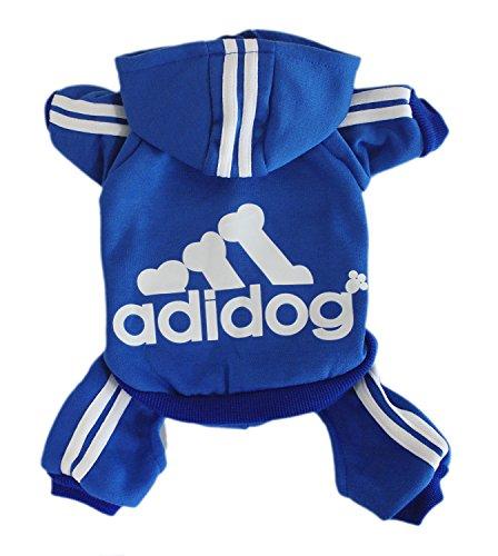 Scheppend Herbst und Winter mit vier Beinen Hund Sweatshirts mit Kapuze,Blau (Vier In Hunde Kostüme)
