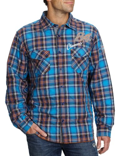 Signum 1/1 squelette chamonix 2TA 103744653–1 chemises/loisirs pour homme Bleu - Blau (Blau + Orange + Türkis 1)
