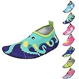 Zapatos de Agua Niño QIMAOO Zapatos de Agua de Natación Niños Zapatos de Playa para Niños Descalzo Barefoot Agua Respirable Calcetines para la Aire Libre Piscina de Playa Surf Yoga