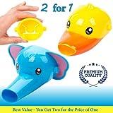 Wasserhahn Erweiterung für Kinder - Set mit 2 Tieren Wasserhahn Erweiterung für Waschbecken Wasserhähne - Handwäsche für Babys, Kleinkinder & Kinder (Elefant und Ente)