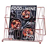 Nugoo - Soporte de metal para libros de recetas y revistas, expositor decorativo para menús, libros de cocina...