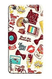 Omnam Taste The Nostalagic Patter Designer Back Cover Case for LeTv Le 1s