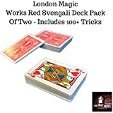 London Magic Works Red Svengali Deck Pack Of Two (Bicycle Back) Includeds Over 100 Tricks - Two Decks That Are Sure To Amaze Your Audience