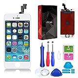 ukuu Pantalla Táctil LCD Reemplazo de Pantalla para iPhone 5S / SE con Herramientas,Color Blanco