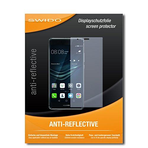 "2 x SWIDO® Protector de pantalla Huawei P9 Plus Protectores de pantalla de película ""AntiReflex"" antideslumbrante"