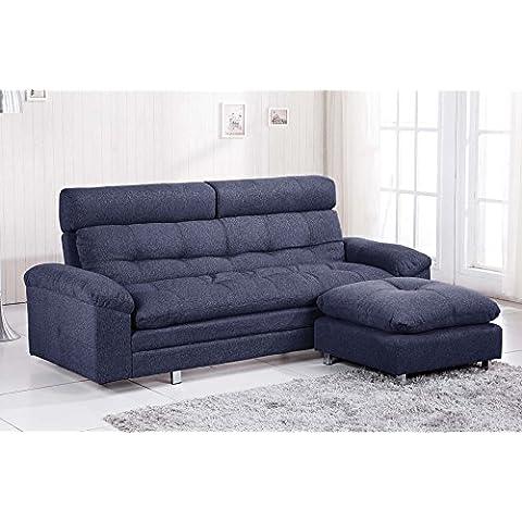 Sofá cama sistema clic clac modelo DURBAN tejido Elegance color gris marengo – Sedutahome