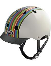 Nutcase NTG3 - Casco de ciclismo unisex multicolor Rainbow Stripe Talla:S (52 - 56 cm)