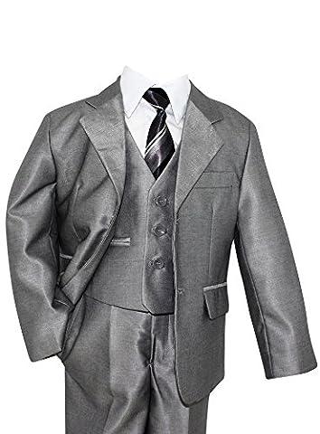 Costume mariage enfant gris costume garçon communion - Gris -