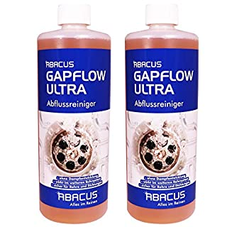 ABACUS GAPFLOW ULTRA SET 2x 1000 ml (7052) - Abflussreiniger Rohrfrei Abfluss Verstopfung Reiniger Rohre Abwasser Abwasserrohre Abflussrohre Rohrverstopfungsmittel Haarlöser flüssig