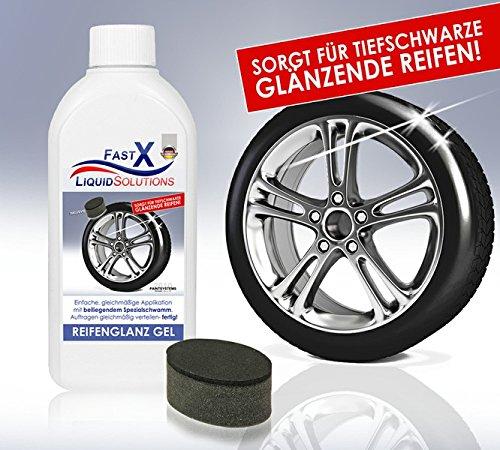 Fast X - gel abrillantador de neumáticos, set de 250 ml, brillo duradero