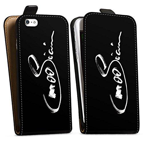Apple iPhone X Silikon Hülle Case Schutzhülle M00sician Fanartikel Merchandise Autogramm Downflip Tasche schwarz