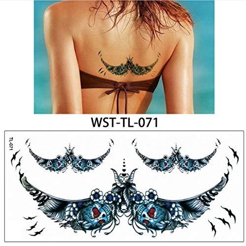 Modeganqing 8 Fantasy Color Free Bird Phoenix Hot Animal Grande Fiore Impermeabile Braccio Braccio Tatuaggio Femmina Ragazzo Bambino in Tatuaggio TL71 19 * 9cm