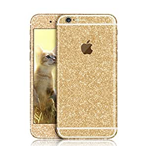 "Lechely for iPhone 6 Decal <4.7 inch> Luxury Bling Crystal Diamond Screen Protector Film Sticker for iPhone 6 4.7"" Champagne Gold"