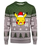 Nintendo Original Pokemon - Weihnachtspullover Pikachu - Xmas Sweater, Größe:L