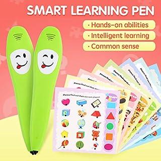 Fcostume Elektronische Cartoon-Multifunktions-Smart-Learning-Stift mit Lesebuch Lernwerkzeuge Entwicklungs Baby Spielzeug (as Shown)